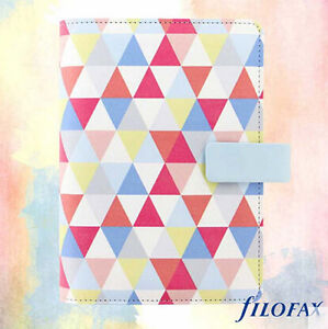Chic Filofax Personal Size Geometric Organiser Planner Note Diary Leather New