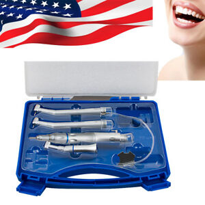us fit Nsk Turbine Dental Low High Speed Handpiece Kit Push Button 2hole Box Ce