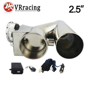 2 5 Electric Bolt On Exhaust Muffler Pipe With Wireless Cutout Remote Valve Kit