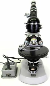 Zeiss Standard Polarizing Petrographic Microscope Pol Clean And Excellent