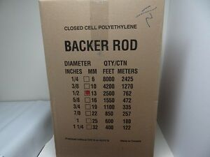 1 2 Closed Cell Foam Backer Rod 2500 Ft Expansion Joint