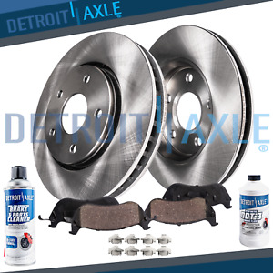 2005 2006 Chevy Malibu 296mm Front Disc Brake Rotors Rotor Ceramic Pads