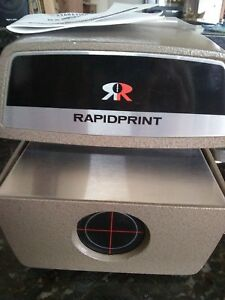Rapidprint vintage time Stamping Machine works Great preowned In Good Condition