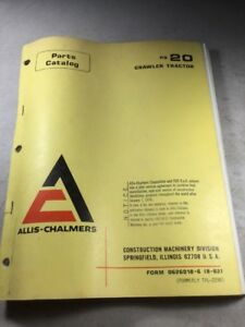Allis Chalmers Hd20 Crawler Tractor Parts Catalog