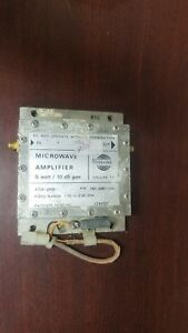 Collins 1 70 2 00ghz Microwave Amplifier 5w 10db