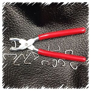 Hog Ring Pliers Seat Cover Netting Attach Doll Repair Fences Tags Casing