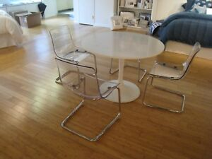 round Table With Three Chairs Office Furniture