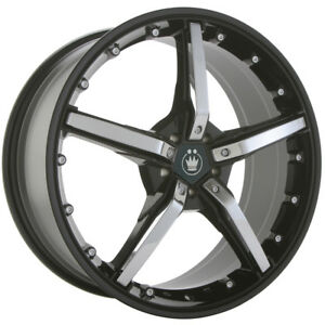 Closeout Konig Hotswap 19x9 5 5x4 5 Offset 40 Black Chrome Spokes qty Of 1