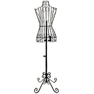 Dress Forms Mannequins Female Black Steel Wire 32 22 32 On Decorative Stand