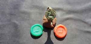 Superb Very Rare Roman Bronze Bird Seal Ring Please Read Description L109c