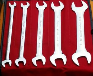 Snap On New With Red Kit Bag 5 Piece Wrench Set Slimline Free Shipping Usa Made