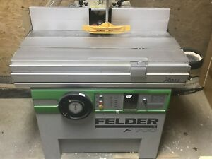 Felder Woodworking Equipment Jointer planer Shaper Both Are Single Phase