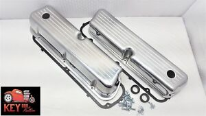 Ford Tall Ball Mill Aluminum Valve Covers Polished 289 302 351w Sbf Short Bolt