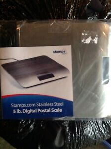 Stamps com 5lb Digital Postal Scale stainless Steel Brand New No Box