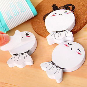10 30pads Cute Cartoon Sticker Post It Bookmark Notebook Memo Pad Sticky Notes