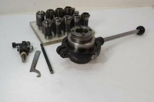 Excellent Myford Super 7 Lathe Lever Collet Chuck 9 Hardinge Collets