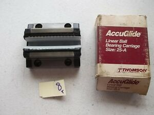 New In Box Thomson Linear Ball Bearing Carriage Size 25a Cg25aaan 182 1