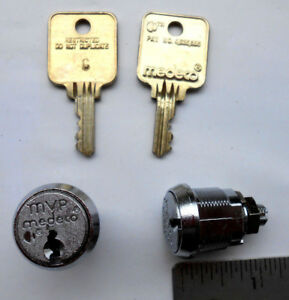 Two New Medeco Mvp Cam Locks With 2 Same Keys High Security