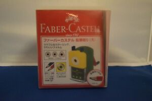 Faber castell Hand Crank Blue Multi Color Pencil Sharpener Art Craft