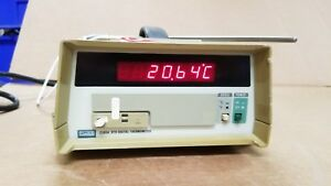 Fluke 2180a Rtd Digital Thermometer With Probe Working