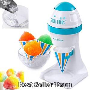 Electric Ice Shaver Machine Snow Cone Maker Ice Crusher Shaved Vending Tabletop