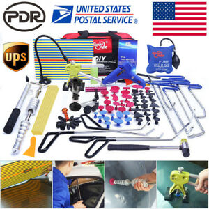 110 Us Pdr Tools Push Rods Tail Dent Puller Lifter Paintless Hail Repair Hammer