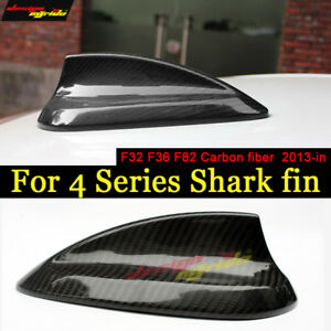 For Bmw F32 F36 F82 M4 Real Carbon Fiber Roof Shark Fin Antenna Cover 2013 2018