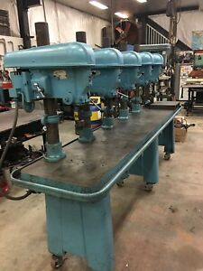 Rockwell Delta 6 spindle Drill Press 23 X 125 Base Procunier Tap Machine