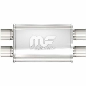 New Magnaflow Univ Muffler Stainless Steel 2 5 Dual In Dual Out 4x9 Oval 11386