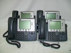 Lot Of 4 Cisco Ip Phone 7940 cp 7940g