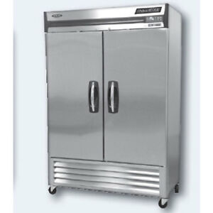 Norlake Nlf49 s Reach in Freezer 2 Stainless Steel Doors 55 1 4 Wide 4 Cast