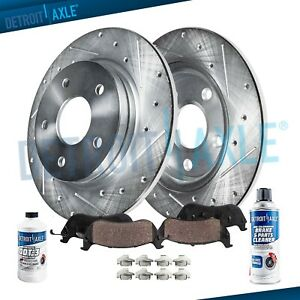 Rear Drilled Brake Rotors Ceramic Pads 2009 2010 2011 2017 Honda Accord Tsx