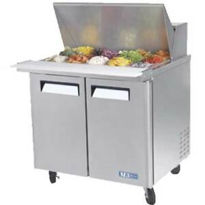 Turbo Mst 36 15 n6 Refrigerated Counter Sandwich Salad Prep Table Mega Top 1