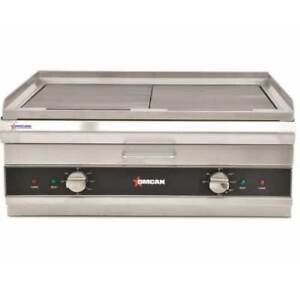 Omcan 41886 Griddle Charbroiler Countertop Electric 24 Wide convert Grill