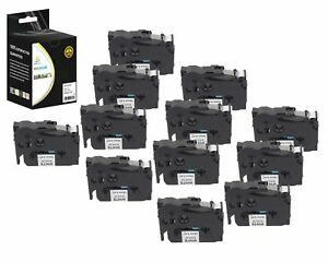 12pk Replacement Tze231 Black On White 1 2in 26 2ft Label Tape Brother Ptouch