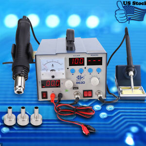 800w1100v Led 3 In 1 Electronic Hot Air Heat Gun Soldering Station Nozzle Set Us