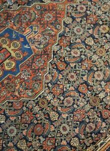 8 X 20 Or 7 9 X 19 3 Antique Vintage Persian Bijar Malayer Heriz Serapi Rug