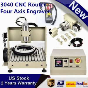 3040 Cnc Router Four 4 Axis Engraver Engraving Machine Ball Screw 800w mach3