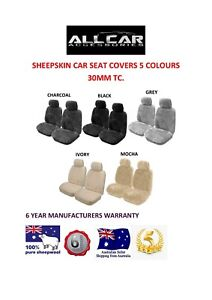 Sheepskin Car Seat Covers To Fit Hyundai Accent Models Seat Airbag Safe 30mm