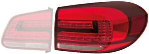 Hella White Red Outer Led Tail Light Rear Lamp Rh Fits Vw Tiguan 2011 Facelift