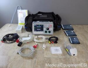 Zoll E Series 12 Lead Ecg 20 pin Spo2 Spco Nibp Etco2 Pacing Analyze Lifepak