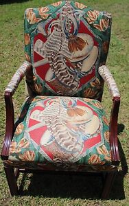 Vintage Highland House Upholstered Armchair Discontinued Print