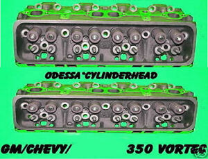 Pair Chevy Gm 350 906 062 V8 Vortec Cast Iron Cylinder Heads Rebuilt