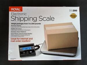 Royal Dg200 Digital Electronic Shipping Scale 200 Pound Capacity Nib