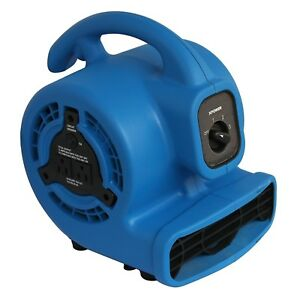 P 80a 1 8 Hp 475 Cfm 3 Speed Mini Air Mover Dryer Fan Blower Build in Power Outl