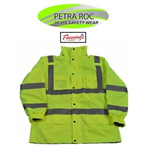 Petra Roc Rain Parka Ansi isea Class 3 3 in 1 Jacket 4x large Lime