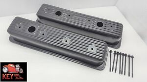 Sbc Tall Black Center Bolt Valve Covers With Bolts 87 98 Vortec 305 350 Chevy