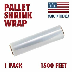 18 X 1500 Tough Pallet Shrink Wrap 80 Gauge 18 Inch X 1500 Feet Film 1 Pack