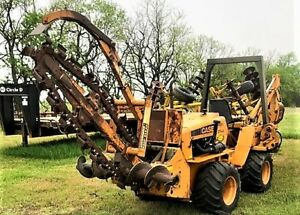 Case Dh4 Wheel Trencher Backhoe Ie Ditch Witch Construction Ditchwitch 706
