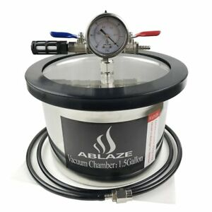 1 5 Gallon Gal Vacuum Chamber Stainless Steel Degassing Urethanes Silicone